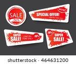 set of sale  discount stickers... | Shutterstock .eps vector #464631200