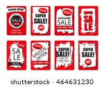 set of sale  discount stickers...   Shutterstock .eps vector #464631230