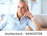 attractive businesswoman... | Shutterstock . vector #464633708