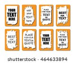 vector quote or text boxes... | Shutterstock .eps vector #464633894