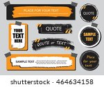 vector quote or text boxes... | Shutterstock .eps vector #464634158