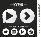 crumpled paper speech bubble.... | Shutterstock .eps vector #464640260