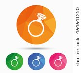 ring sign icon. jewelry with... | Shutterstock .eps vector #464641250