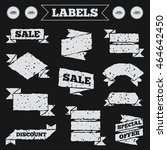 stickers  tags and banners with ...   Shutterstock .eps vector #464642450