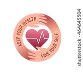 care of health  shape emblem