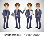 elegant people businessman | Shutterstock .eps vector #464648000