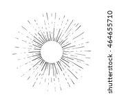 sun engraving raster... | Shutterstock . vector #464655710