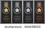 set of  black banners  gold  ... | Shutterstock .eps vector #464658020