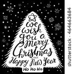 christmas and new year... | Shutterstock .eps vector #464663684