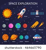 space collection for you design ... | Shutterstock .eps vector #464665790