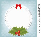 beautiful christmas frame with... | Shutterstock .eps vector #464678594