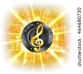musical background flash ... | Shutterstock .eps vector #464680730