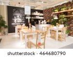 blur dinner table picture... | Shutterstock . vector #464680790