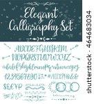 roman letters typeset. elegant... | Shutterstock .eps vector #464683034