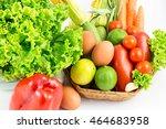 fresh and ripe vegetables...   Shutterstock . vector #464683958
