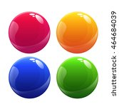 plastic vector ball set | Shutterstock .eps vector #464684039