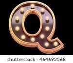 golden lamp signboard font.3d... | Shutterstock . vector #464692568