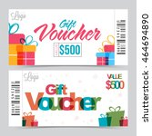 creative gift voucher or coupon ... | Shutterstock .eps vector #464694890