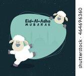 muslim community  festival of... | Shutterstock .eps vector #464696360