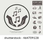 pictograph of music   Shutterstock .eps vector #464709128