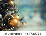 christmas tree. holiday... | Shutterstock . vector #464720798