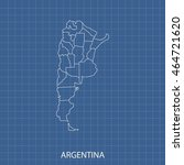 map of argentina | Shutterstock .eps vector #464721620