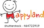 emblem in the style of children'... | Shutterstock .eps vector #464722919
