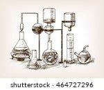 chemical laboratory still life... | Shutterstock .eps vector #464727296
