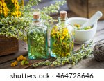 tincture bottles of tansy and... | Shutterstock . vector #464728646