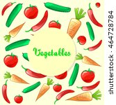colorful ripe fresh vegetables...   Shutterstock . vector #464728784