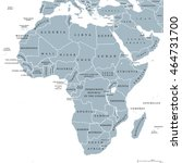 africa countries political map... | Shutterstock .eps vector #464731700