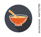 chicken soup vector. icon for... | Shutterstock .eps vector #464732780