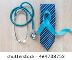 blue ribbon symbolic of... | Shutterstock . vector #464738753