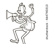 angry man shouting through... | Shutterstock .eps vector #464740313