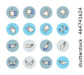 hand gesture icons | Shutterstock .eps vector #464741624