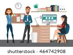 business professional work team.... | Shutterstock .eps vector #464742908