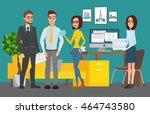 business professional work team.... | Shutterstock .eps vector #464743580