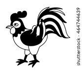 cock on white background. cute  ... | Shutterstock .eps vector #464744639