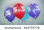 colorful balloons floating on... | Shutterstock . vector #464755778