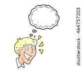 freehand drawn thought bubble... | Shutterstock . vector #464757203