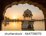 gadi sagar   artificial lake... | Shutterstock . vector #464758070