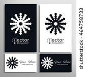 black and white mandala...   Shutterstock .eps vector #464758733