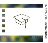 graduation cap icon | Shutterstock .eps vector #464768978