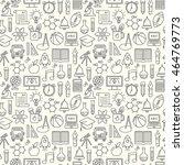 seamless vector school...   Shutterstock .eps vector #464769773