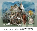 Orphanage. Watercolor...