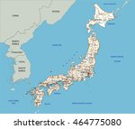 High Detailed Japan Road Map...