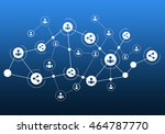 social media communication | Shutterstock . vector #464787770