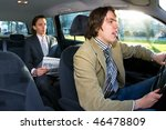 A Businessman In The Backseat...