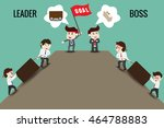 the difference between leader... | Shutterstock .eps vector #464788883