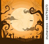 halloween night background in... | Shutterstock .eps vector #464791070